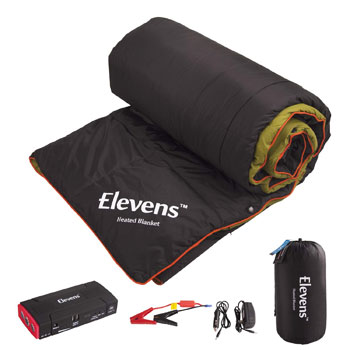 Battery Operated Heated Down Camping Blanket for Cold Weather