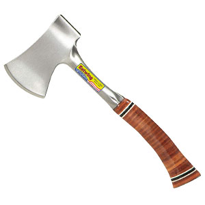 Estwing Sportsmans Hatchet Axe with Forged Steel Construction and Genuine Leather Grip