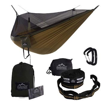 Everest Double Camping Hammock with Mosquito Net Bug Free