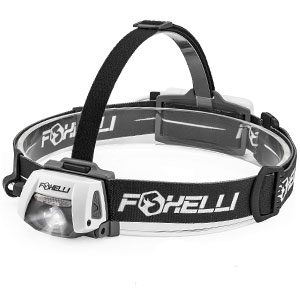 Foxelli USB Rechargeable Waterproof Headlamp