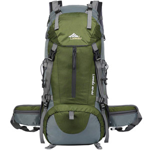 Loowoko Hiking Backpack 50L for Travel and Camping