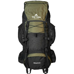 TETON Sports Scout 3400 Internal Frame Backpack for Camping