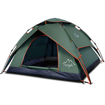 Toogh 2-3-Person Backpacking Tent, Automatic Instant Pop-Up Tent for Outdoor