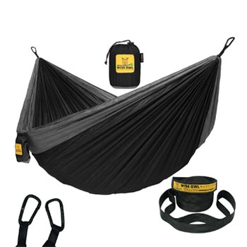 Wise Owl Outfitters Camping Backpacking Hammock with Tree Straps