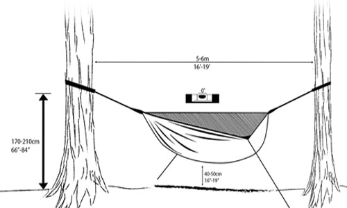 hammock angle adjustment infographic