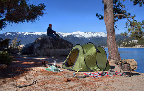 pop-up camping tent size and features