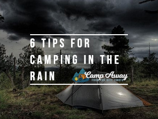 tips for camping in the rain featured