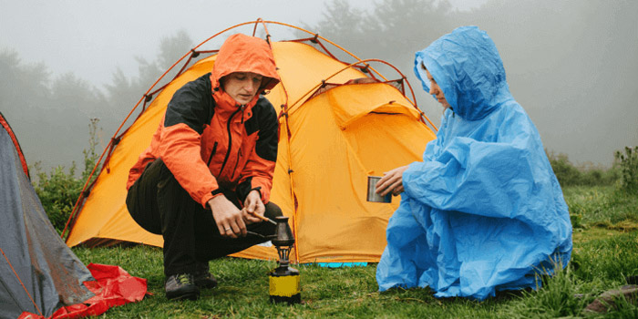what to wear while camping in the rain