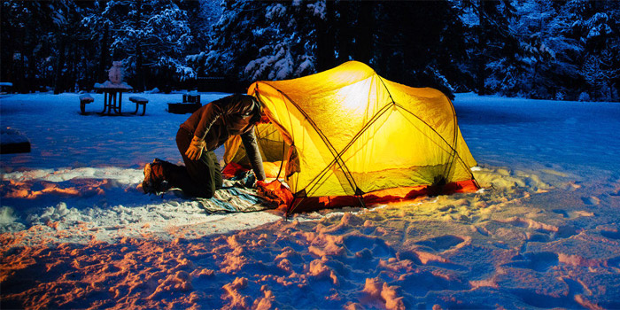 winter camping basics and tips