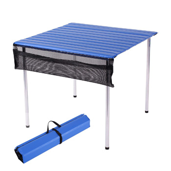 Camp Time Fold Up Portable Camp Table Roll Out Table Top