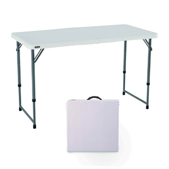 Lifetime Height Adjustable Camping Folding Table
