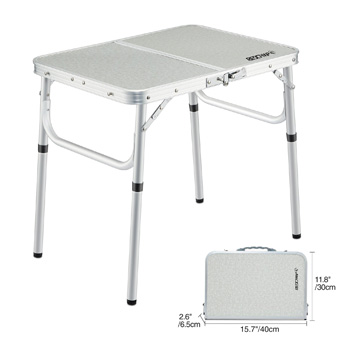 REDCAMP Adjustable Height Aluminum Lightweight Camping Table