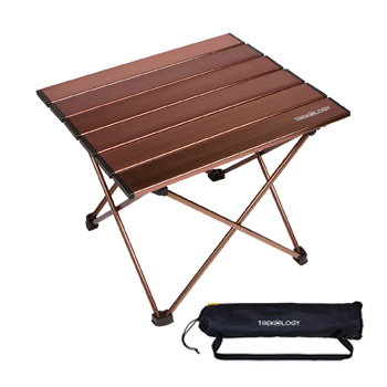 Trekology Aluminum Portable Folding Table with Carry Bag