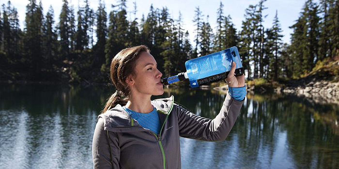 portable backpacking water filter for camping