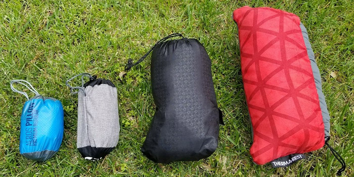 types of camping pillows