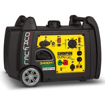 Champion 3400 Watt Dual Fuel RV Ready Inverter Generator with Electric Start