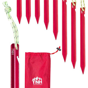 TNH Outdoors Aluminum Tri Beam Tent Stakes and Bag