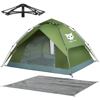 Night Cat Waterproof Instant Camping Tent for 2 Person with Footprint Tarp