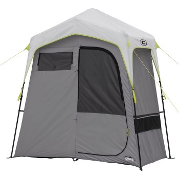 Core Instant 2-Room Camping Utility Shower Tent with Changing Privacy Room