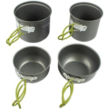 G4Free 4-Piece Camping Cookware Mess Kit