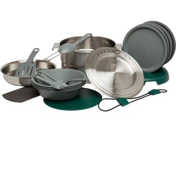 Stanley Adventure Base 4X Camp Cook Set, Stainless Steel, 3