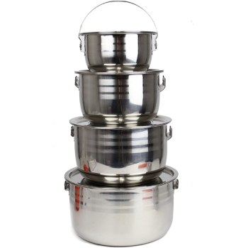 Wealers Stainless Steel Camping Cookware Set