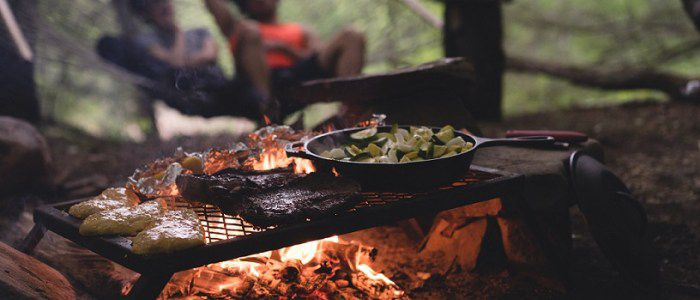 Cooking With Camping Grill