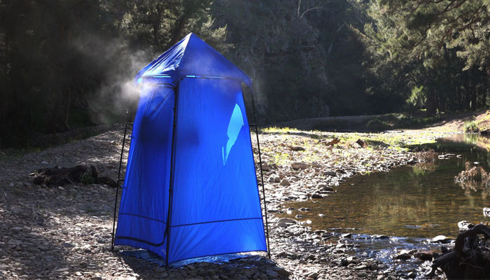 portable compact shower tent for camping