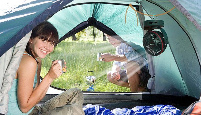 camping tent cooling tips