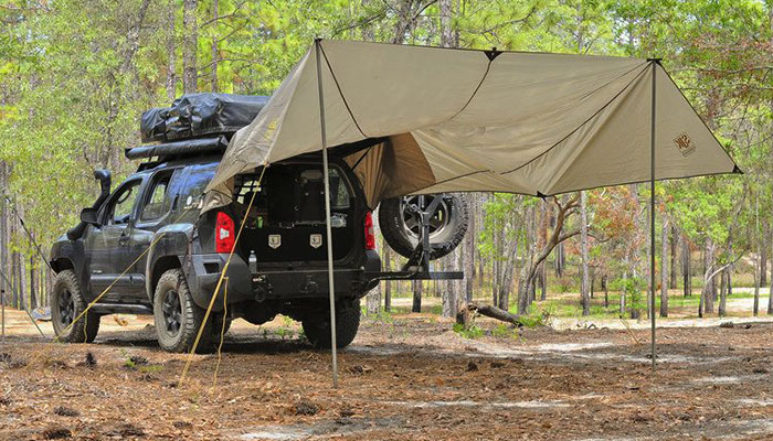 tips for camping with car